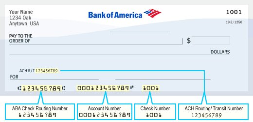 bank of america florida east routing number